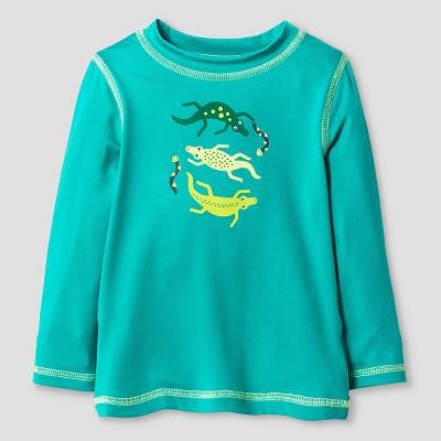 Baby Boys' Lizard Long Sleeve Rash Guard - Cat & Jack™ Turquoise 9M