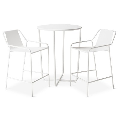 3 pc Bar Bistro Set White - Modern by Dwell Magazine