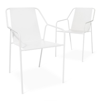 Outdoor Dining Chair 2 pk White Modern by Dwell Magazine Target