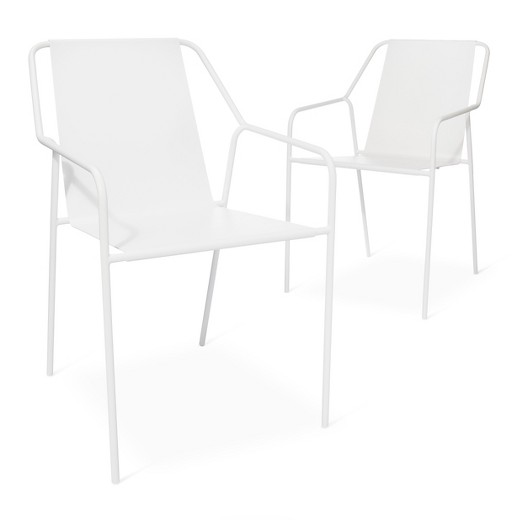 Modern White Chair outdoor dining chair 2 pk white - moderndwell magazine : target