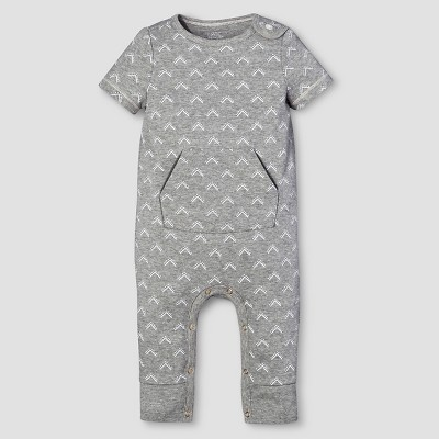 Baby Short Sleeve Romper Nate Berkus™ - Heather Gray 0-3M