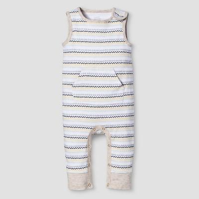 Baby Sleeveless Romper Nate Berkus™ - White/Oatmeal 6-9M