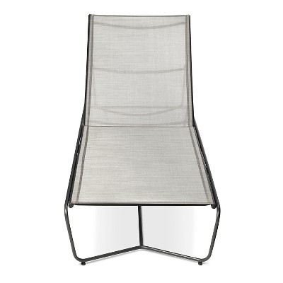 Outdoor Chaise Lounge Gray - Modern by Dwell Magazine