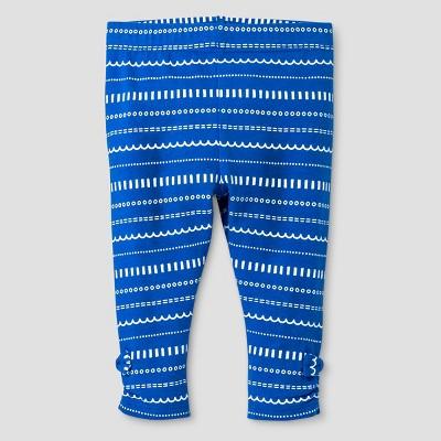 Baby Girls' Doodle Stripe Leggings Baby Cat & Jack™ - Blue 3-6 M