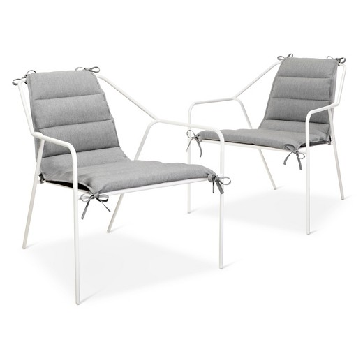 Outdoor Lounge Chair 2 pk White Modern by Dwell Magazine Tar