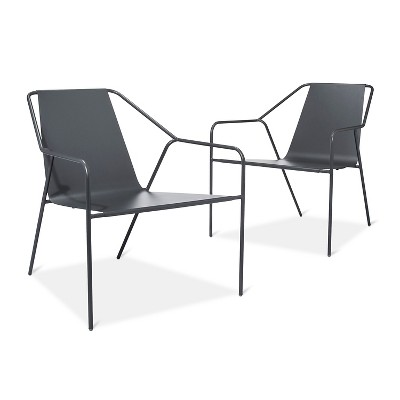 Outdoor Lounge Chair 2 pk Gray - Modern by Dwell Magazine