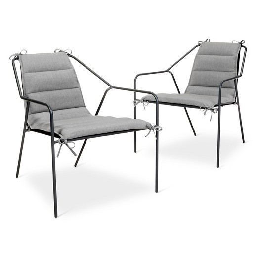 Outdoor Lounge Chair 2 pk Gray Modern by Dwell Magazine Tar