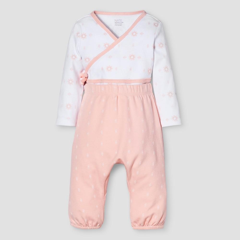 Baby Girls 2-Piece Top & Bottom Set Nate Berkus - Peach 3-6M, Size: 3-6 M, Orange