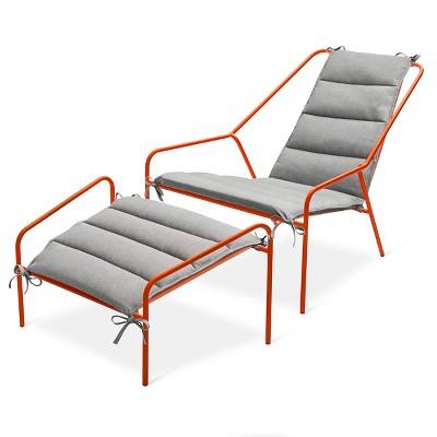 Orange Outdoor Chair Posture Chair And Ottoman Set Orange   Moderndwell  Magazine