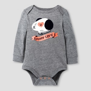Child Bodysuits Cat & Jack - Earth Gray 24M, Boy