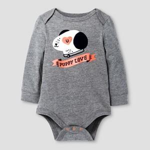 Child Bodysuits Cat & Jack Earth Gray NB, Boy