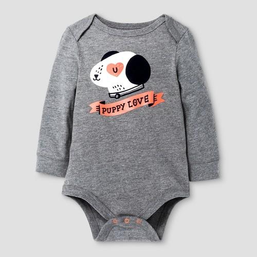 Child Bodysuits Cat & Jack Earth Gray 0-3 M, Boy's
