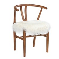 Wishbone Accent Chair - White - Threshold. opens in a new tab.