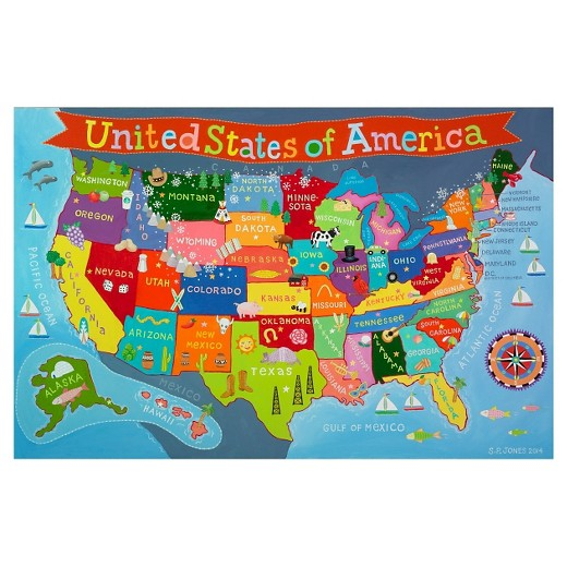 Round World Kids WorldUSA Pack X Map Combo Target - Map of nevada and arizona usa