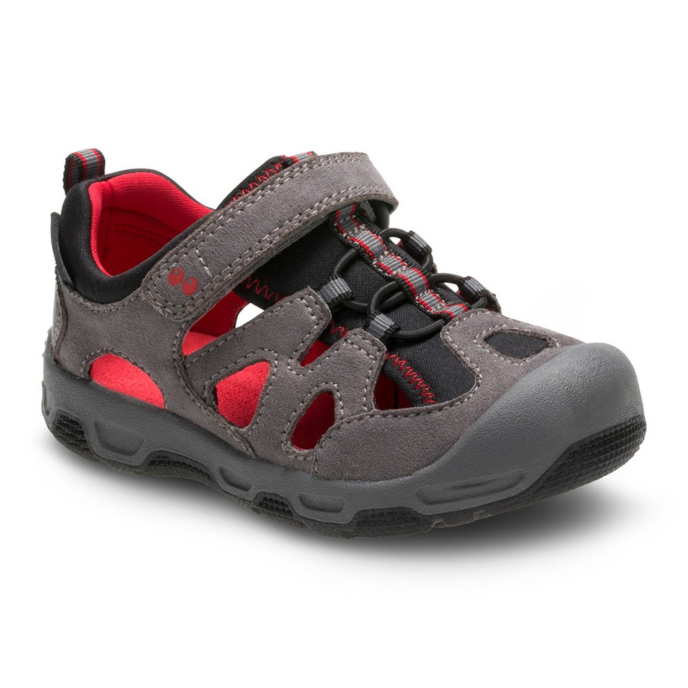 Toddler Boys Surprize by Stride Rite Surprize Deonte Sandals - Red 5, Grey/Red