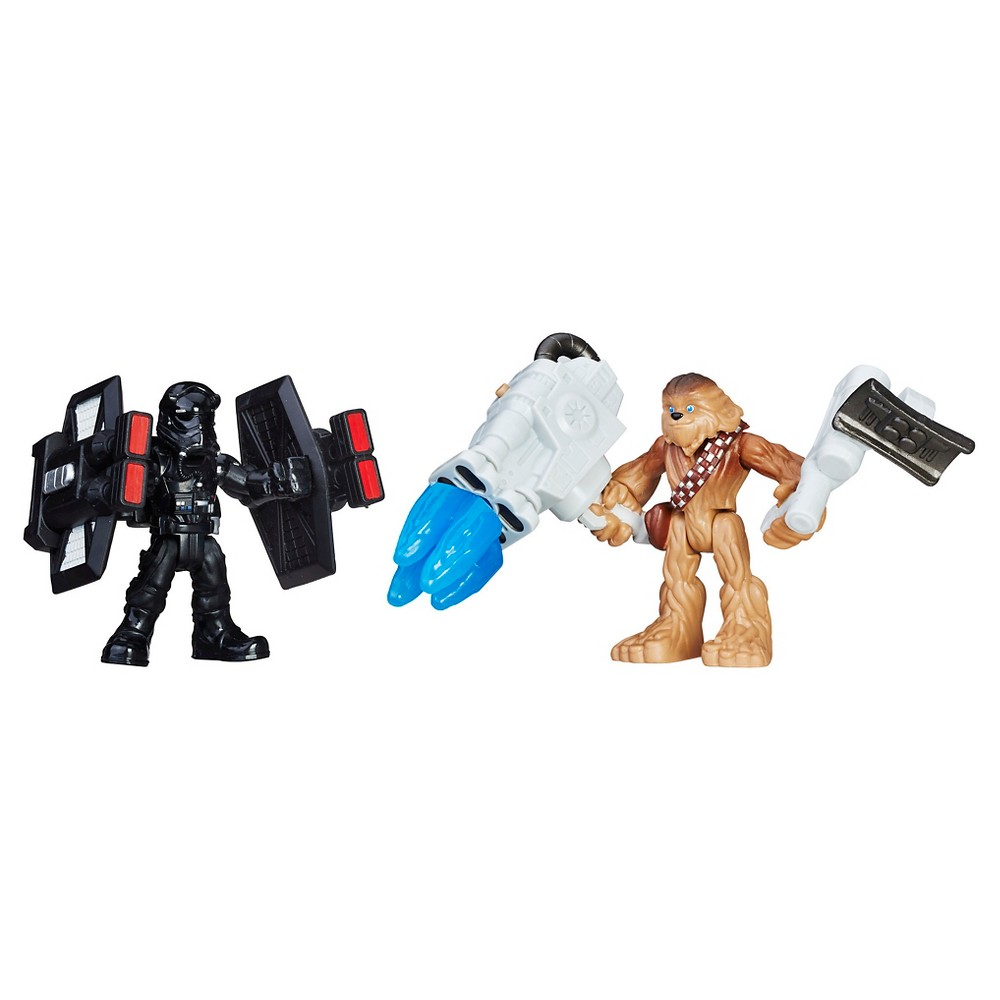 Star Wars Galactic Heroes Chewbacca and First Order Tie Pilot