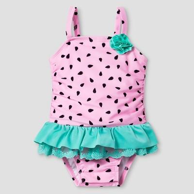 Baby Girls' Watermelon Tutu One Piece Swimsuit - Cat & Jack™ Pink 9M