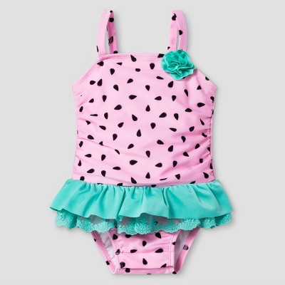 Baby Girls' Watermelon Tutu One Piece Swimsuit Cat & Jack™ - Pink 18M