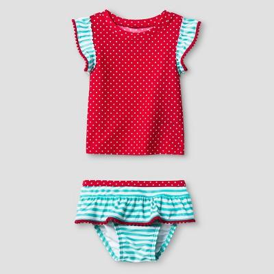 Baby Girls' Tankini Set with Flounce Bottom Cat & Jack™ - Red 9M