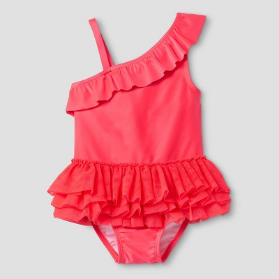 Toddler Girls' One Shoulder Tutu Swimsuit Cat & Jack™ - Red 5T
