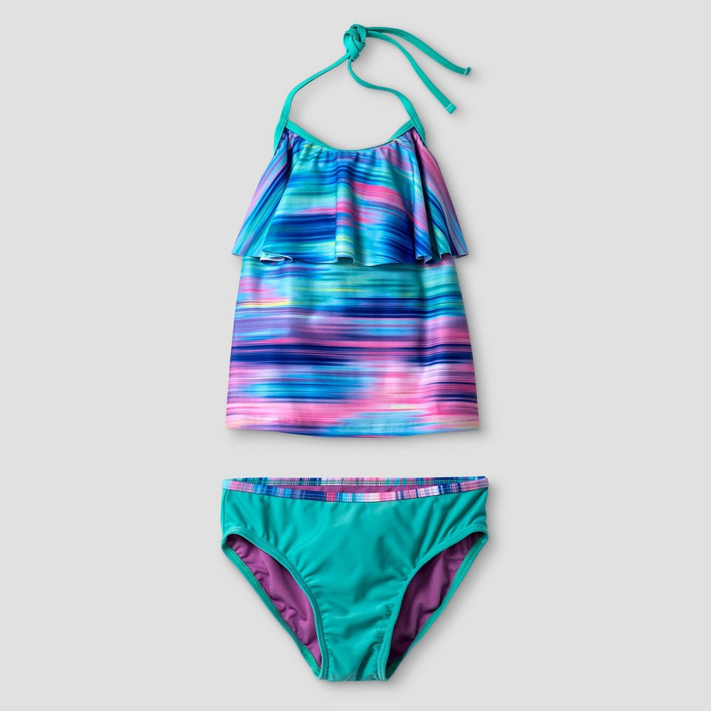 Girls Tankini Set - Cat & Jack Aqua XS, Blue