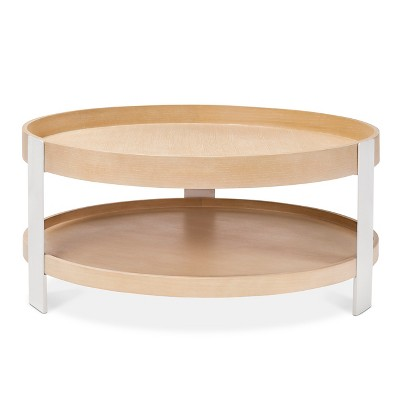 Elegant Coffee Table White/Natural ...