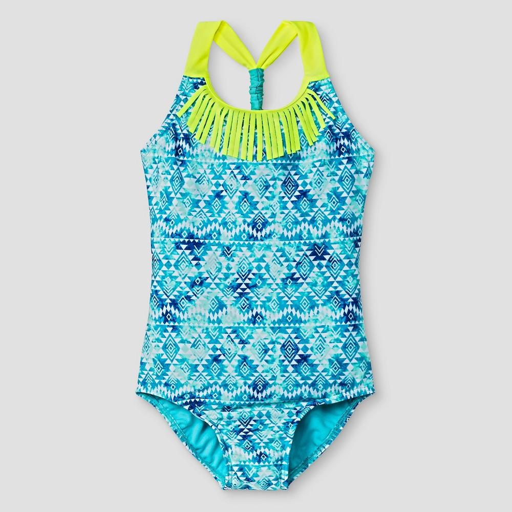 Girls One Piece Swimsuit - Xhilaration Blue XS