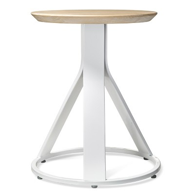 Peachy Adjustable Stool White Natural Modern By Dwell Magazine Ncnpc Chair Design For Home Ncnpcorg