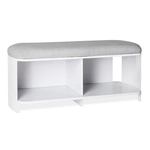 Bench White Gray Modern By Dwell Magazine Target