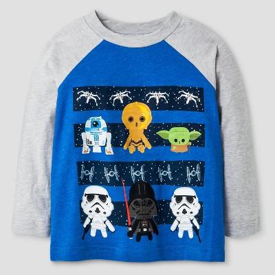 Lucas® Baby Boys' Cute SW Lines Long Sleeve T-Shirt - Gray Heather 18M