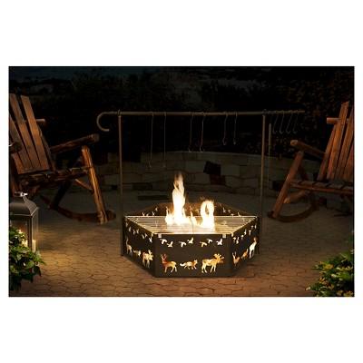 Sunjoy Cowboy 51  Camp Woodburning Fire Pit - Black