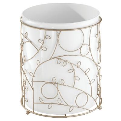 Twigz Bathroom Waste Can Champagne White - InterDesign®