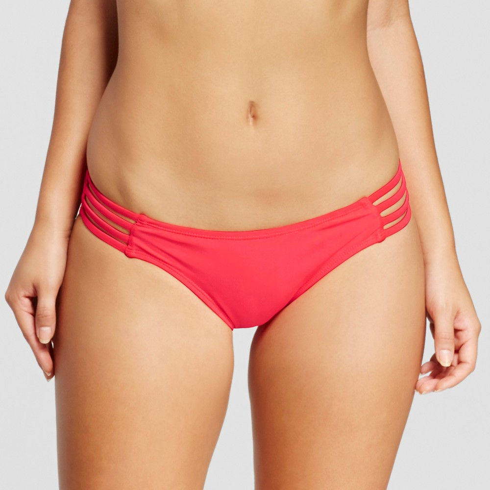 Women's Extra Cheeky Hipster Bikini Bottom – Electric Red – M – Xhilaration