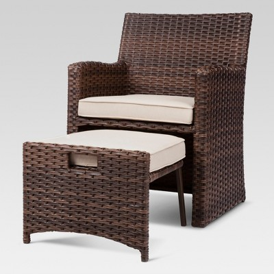 Perfect Halsted 5 Piece Wicker Small Space Patio Furniture Set   Threshold ...
