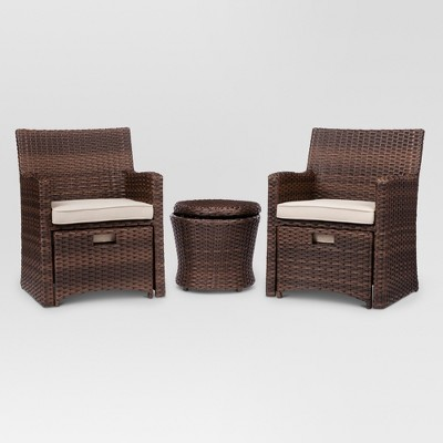 Marvelous Halsted 5 Piece Wicker Small Space Patio Furniture Set   Threshold ...