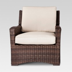 Halsted Wicker Patio Club Chair - Threshold™