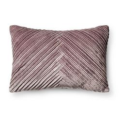 Purple La Salle Faux Silk Lumbar Pillow Beautyrest 174 Target