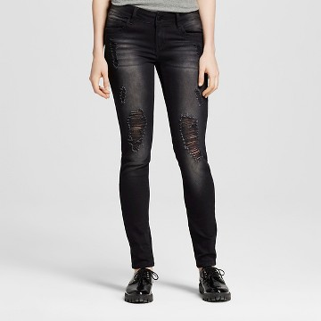 ripped skinny jeans : Target