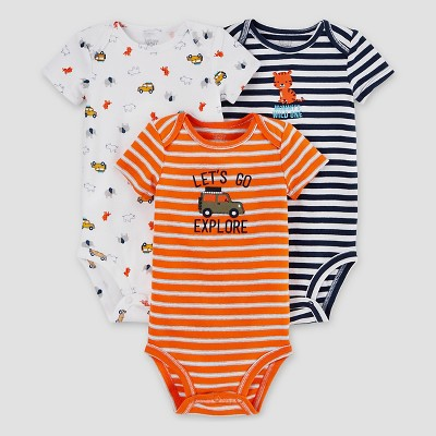 Baby Boys' 3pk Tiger Bodysuit Set - Just One You™ Made by Carter's® Blue 18M