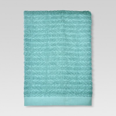 Triangles Bath Towel Aqua - Threshold™