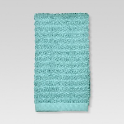 Triangles Hand Towel Aqua - Threshold™