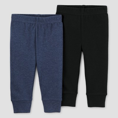 Baby Boys' 2pk Pants Set - Just One You™ Made by Carter's® Navy/Black 6M