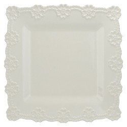 """10 Strawberry Street Lace 12"""" Square Platter"""