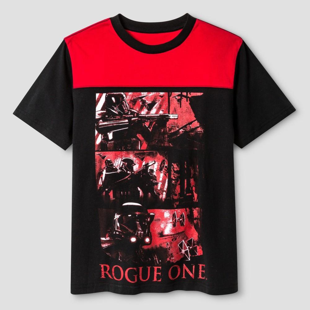 Boys Star Wars Rogue One T-Shirt - Black/Red Xxl
