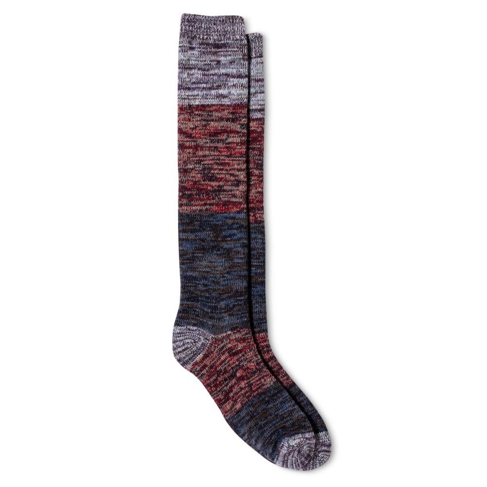 Legale Womens Spacedye Color Block Knee High Socks - Purple One Size