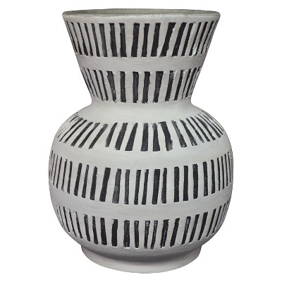 Ceramic Vase with Lines - White - Threshold™