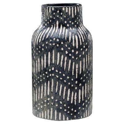 Textured Ceramic Vase - Black - Threshold™