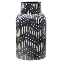 Textured Ceramic Vase - Black - Threshold. opens in a new tab.