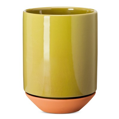 Terracotta Planter 6  Green - Modern by Dwell Magazine