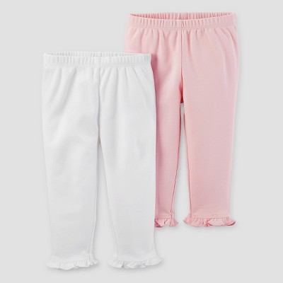 Baby Girls' 2pk Pants Set - Just One You™ Made by Carter's® Light Pink/White 6M